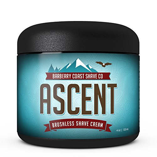 SALE Himalayan Ascent Shaving Cream for Men - Scent: Blue Pine, Indian Cedar, Amber, Sandalwood, Mandarin - Made with Shea Butter, White Tea & All Natural Ingredients