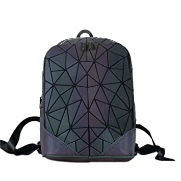 fd82003a1373 Image Unavailable. HotOne Geometric Backpack Holographic Reflective  Backpacks ...