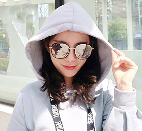 de Plata Sol Gafas de Plata Marco Negro de Polvo UV de polarizadas Gafas Sol ZYXCC Plata de Completo Mujer de Color Sol Gafas Gafas de Sol YANJING de Mujer xTAxqw