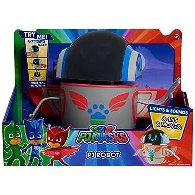 """PJMASKS Lights & Sounds Robot, Red/Blue/Green/Grey, 9"""""""