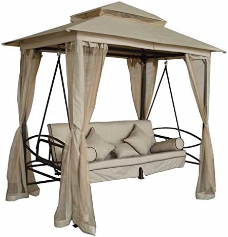 Dedos verdes Regency de cama de Swing Gazebo - Natural: Amazon.es ...