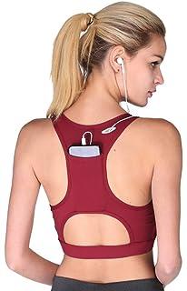 b2b6e1392cb2c DMYG Sport BH Yoga BH Fitness BH High Impact Back Pocket Sports Bra  Racerback Activewear Bras