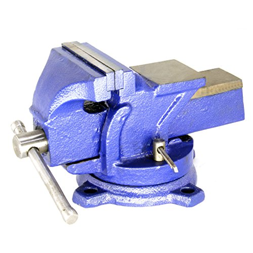 (HFS Heavy Duty Bench Vise - 360 Swivel Base with Lock, Big Size Anvil Top (4''))