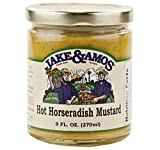 Jake & Amos Hot Horseradish Mustard 9 oz. (3 Jars)