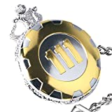 Fallout Vault 111 Gold on Silvertone Pendant Pocket Watch