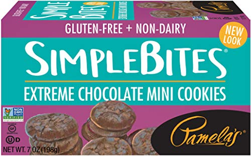 Pamela's Products Gluten Free Simple Bites Mini Cookies, Extreme Chocolate, 7 Ounce]()