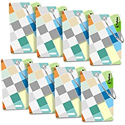 Vakoo Luggage Tags, Bag Tag Travel ID Labels Tag For Baggage Suitcases Bags (8 Pack)