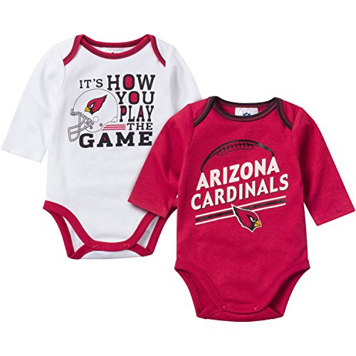 - NFL Arizona Cardinals Unisex-Baby 2-Pack Long-Sleeve Bodysuits, Red/White, 12 Months