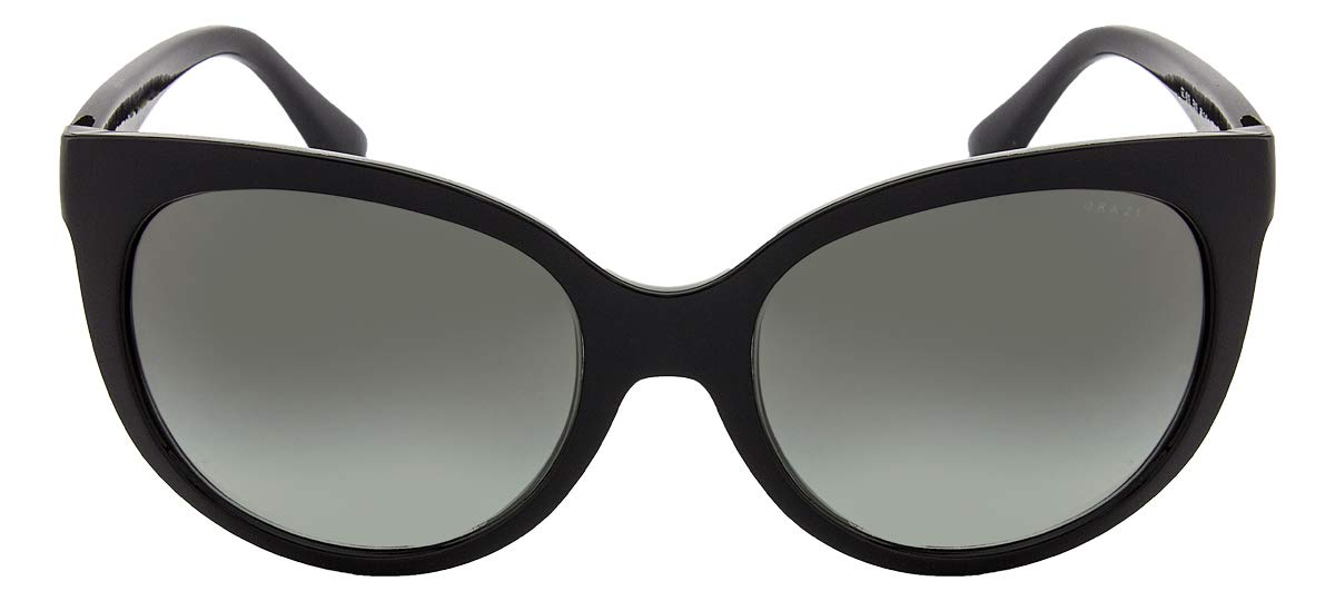 fd2ead561eca4 Óculos de Sol Grazi Massafera GZ4019 E819 Preto Com Cristais Da SWAROVSKI  Lente Cinza Degradê Tam 56  Amazon.com.br  Amazon Moda