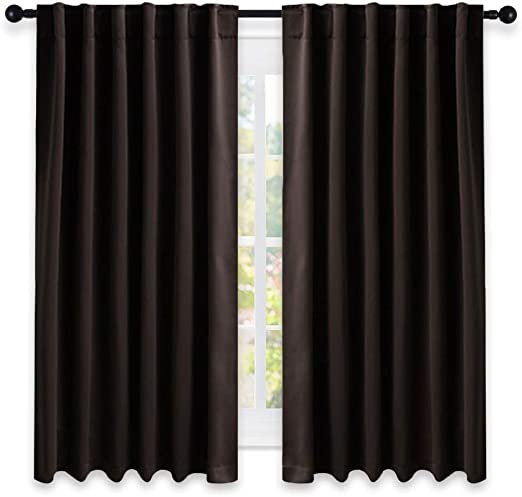 Amazon Com Nicetown Blackout Curtains For Small Windows Toffee Brown Color 52 Inches X 63 Inch 2 Pieces Set Blackout Curtain Drape Panels For Theater Home Kitchen,Light Chocolate Brown Hair Color With Caramel Highlights