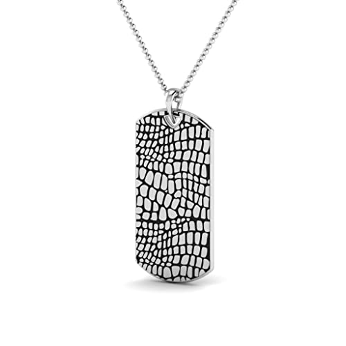 Buy Pendants For Men, CAIMAN TAG, Mens Dog Tags, Sterling Silver 925, Mens  Pendants at Amazon.in