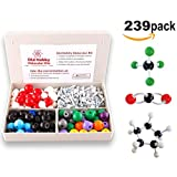 Organic Chemistry Model Kit (239 pieces). Molecular Model Kit with Atoms, Bonds and Instructional Guide. Chemistry Model Kit for Students and Teachers