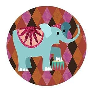 Cartoon Art Design Elephant Personalized Round Mouse Pad