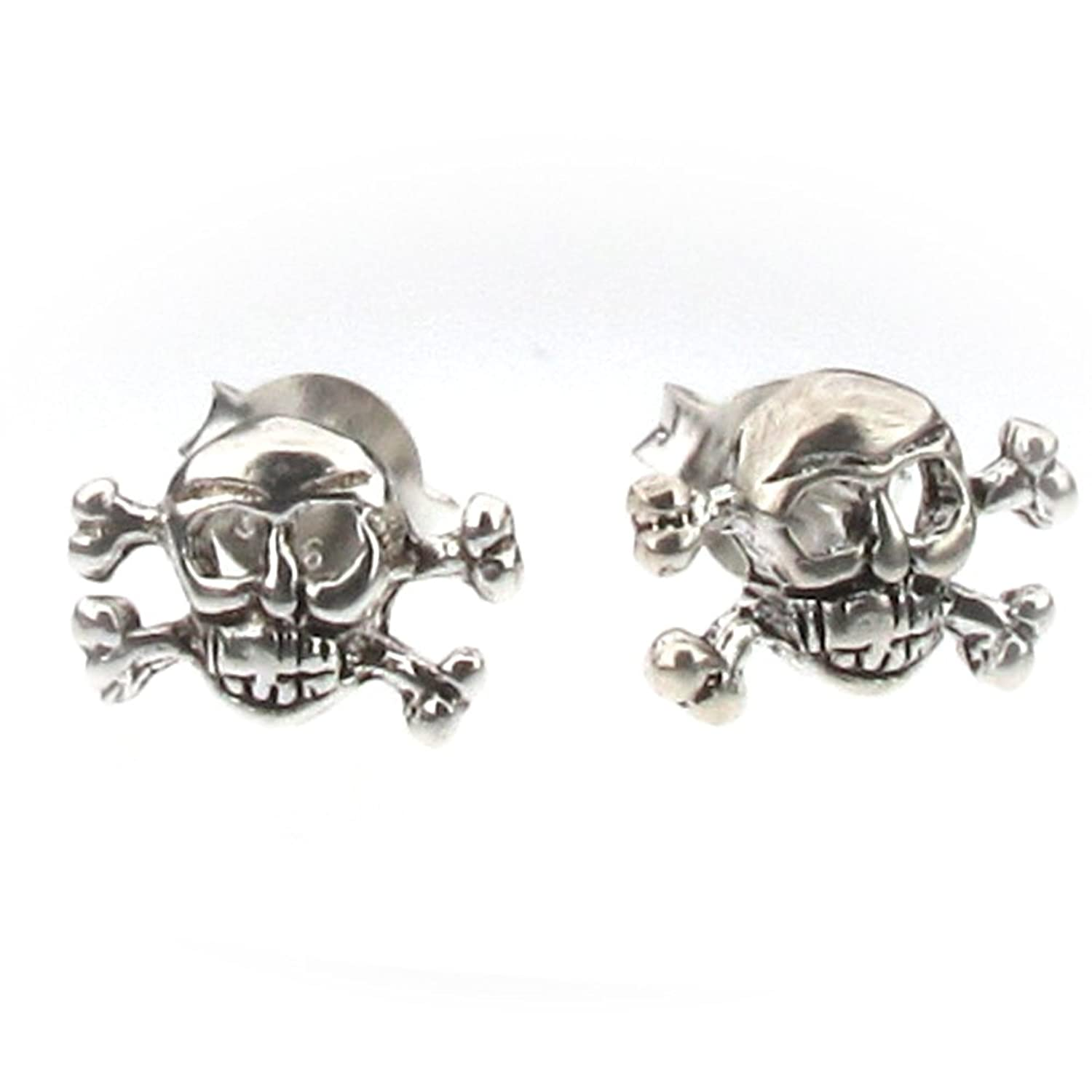 Sterling Silver Skull And Crossbones Stud Earrings Co Uk Bvb Outfit 1  Polyvore