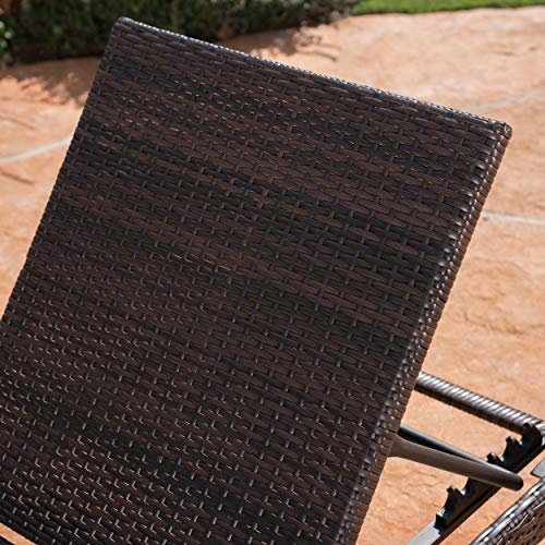 Christopher Knight Home Joyce Outdoor Multibrown Wicker Chaise Lounge Without Cushion by Christopher Knight Home (Image #1)