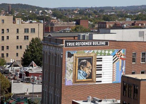 18 x 24 Art Canvas Print of View from the top of the Ellington Building 1301 U St. NW Washington D.C. Duke Ellington mural shown r80 2010 by Highsmith, Carol - Dc Washington St M