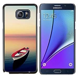 Stuss Case / Funda Carcasa protectora - Sea Sunset calma Red Esperanza Libertad - Samsung Galaxy Note 5