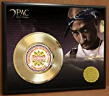 #5: 2Pac / Tupac Limited Edition Poster Art Gold Record Music Memorabilia Display