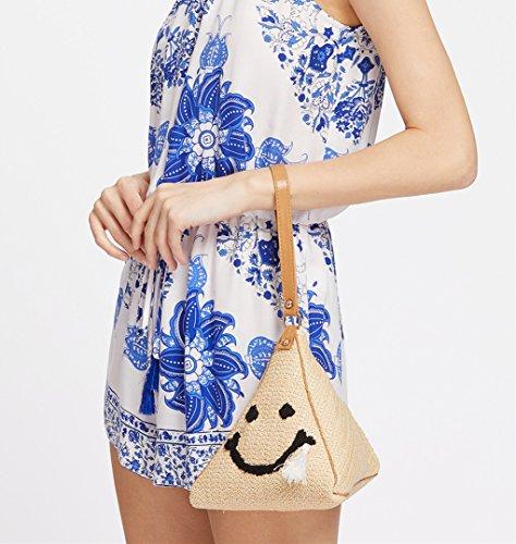 Flada - Cartera de mano para mujer azul azul mediano gris