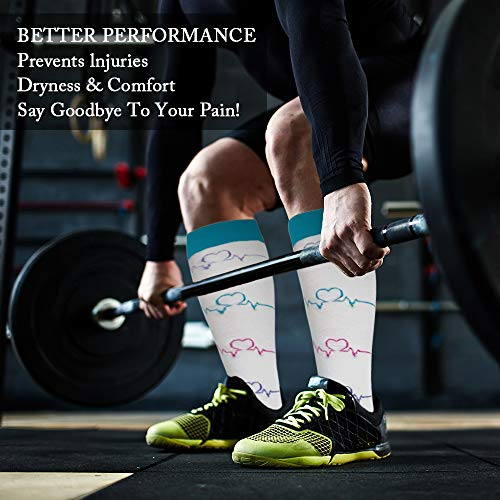 Ritta Compression Socks, Compression Sock Women & Men - 15-20 mmHg is Best Graduated Athletic & Medical for Running, Athletic Sports, Crossfit, Flight Travel (7 Pairs Assorted-1, L/XL) by Ritta (Image #3)