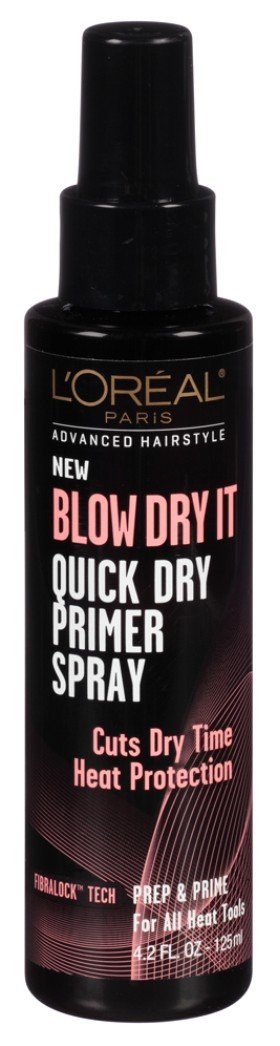 Loreal Blow Dry It Quick Dry Primer Spray 4.2 Ounce (124ml) (2 Pack)