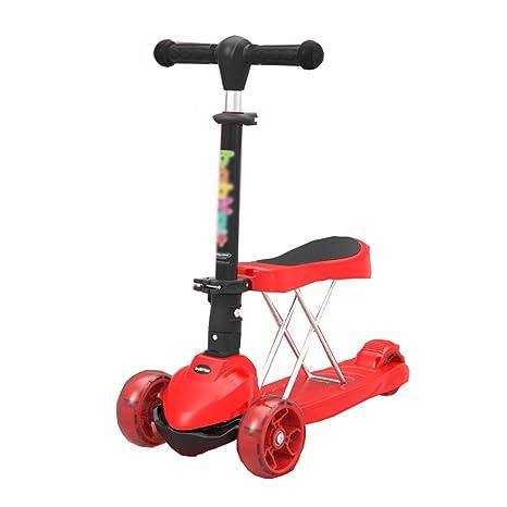 SI YU Con Asiento Scooter para Niños Plegable de Altura Ajustable ...