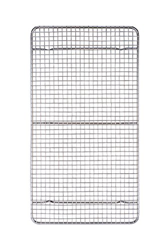 Mrs. Anderson's Baking 43194 Professional Baking and Cooling Rack, 10-Inches x 18-Inches, Chrome-Plated Steel Wire
