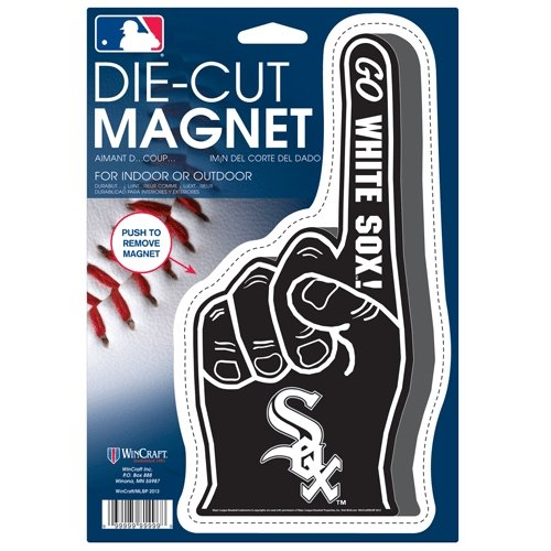 Wincraft MLB Chicago White Sox 32293013 Die Cut Logo Magnet, Small, Black