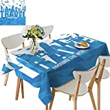 Best Latin Party In The Worlds - UHOO2018 Printed Fabric Tablecloth Square/Rectangle Travel Around The Review