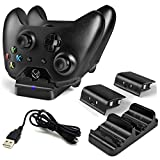 Xbox One Controller Dual Charger, Prodico Charging Dock Station with 2 Rechargeable Batteries For Xbox One Wireless Controller