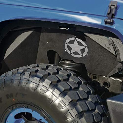 MAIKER Jeep JK Front Steel Inner Fender Liners for 2007 2008 2009 2010 2011 2012 2013 2014 2015 2016 2017 Jeep Wrangler JK -