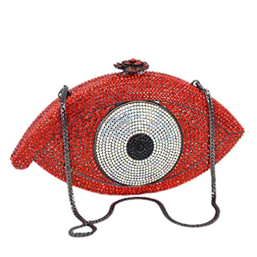 Eye Evil Gold Party Pochette Evening ULKpiaoliang Femme Bag Bag Day Clutch Purse Clutch Bag Women Bag Silver red Crystal g5ExxR