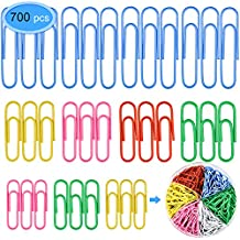 Paper Clips 700 Pieces, EAONE Colored Paper Clips with Small, Medium, Jumbo Assorted Sizes (28mm, 33mm, 50mm) Document Organizer for Office, School
