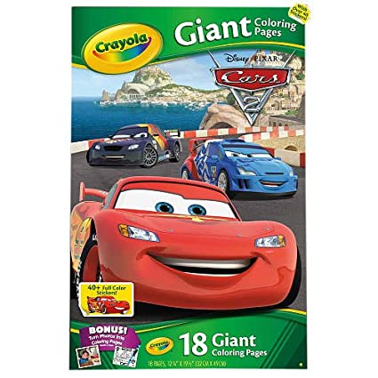 Amazoncom Crayola Giant Coloring Pages Disney Pixar Cars 2