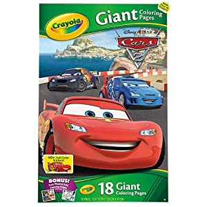 crayola giant coloring pages disney pixar cars 2