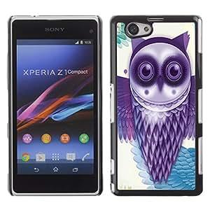 - Owls Owl Cute Pattern - - Monedero pared Design Premium cuero del tir¨®n magn¨¦tico delgado del caso de la cubierta pata de ca FOR Sony Xperia Z1 M51W Z1 mini D5503 Funny House
