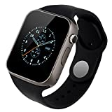All Smart Phones compatible Smart Watch with Heart Rate Monitor OLED Display Bluetooth 4.0 Waterproof Sports Health Activity Fitness Tracker Bluetooth Wristband Pedometer Sleep Monitor Waterproof Smart Bracelet | Call Reminder | Clock | Remote camera | Anti-lost Function BY AINOX (A1 BLACK)