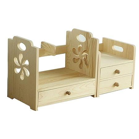 Organizador de escritorio de madera, estante de correo de oficina ...