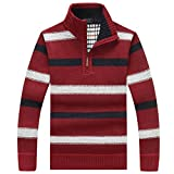 PUTAOJIAZI Men Casual Sweaters Knitted Knit Pullover Masculino Sueter Pull Homme Jersey Red XXXL
