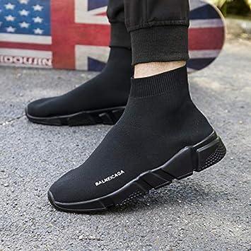 HCBYJ Calcetines zapatos Zapatos de Lona para Hombre Corte Alto otoño Tela de Malla Casual Calcetines
