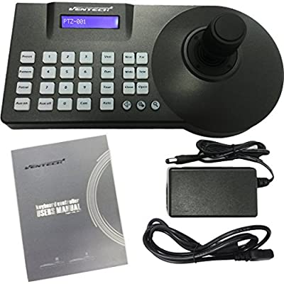 VENTECH LCD Security PTZ (Pan Tilt Zoom) Speed Dome Camera 3D Keyboard Controller, Using 3 Axis Joystick to Control All Functions,Up to 128 Speed Dome Cameras,3500 Feet Maximum Distance Communication by VENTECH SECURITY