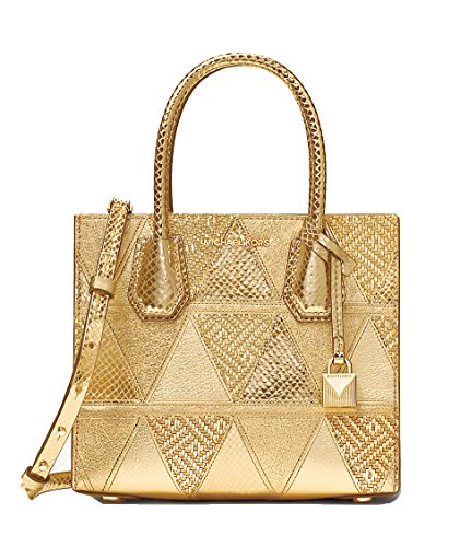 Handbags Messenger Gold Small - MICHAEL Michael Kors Women's Medium Mercer Messenger Bag, Pale Gold, One Size