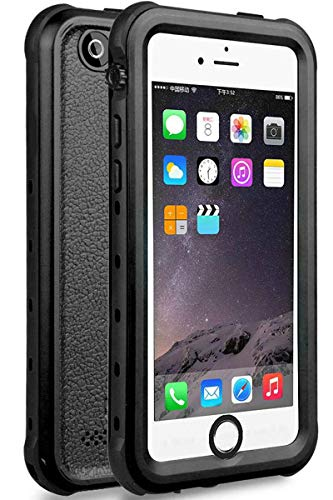 iPhone 5 5S SE Waterproof Case, Upgraded Shockproof Dropproof Dirtproof Rain Snow Proof Full Body Protective Cover IP68 Certified Underwater Case Built-in Screen Protector for iPhone 5S 5 SE (Black) (Best Case For Iphone 5se)