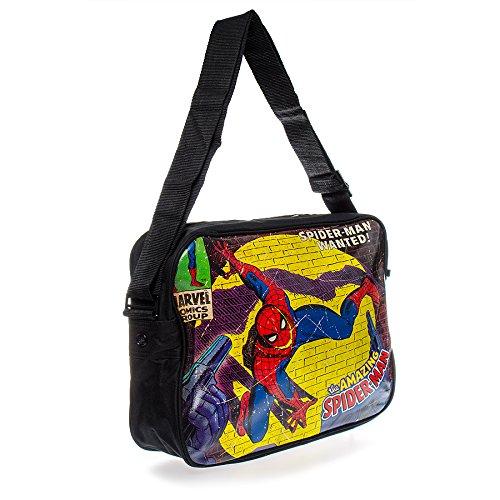 Elegante Comics, motivo: Marvel Spiderman Close Up-Borsa Messenger
