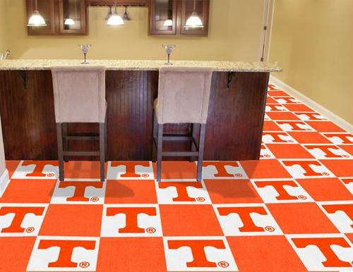 Tennessee Baseball Rug - Fan Mats Tennessee Carpet Tiles, 18