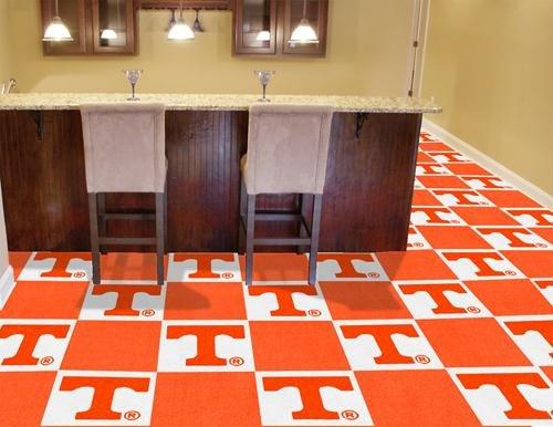 (Fan Mats Tennessee Carpet Tiles, 18