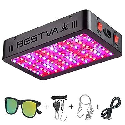 BESTVA 1000W LED Grow Light Full Spectrum Grow Lamp for Indoor Plants Veg and Flower