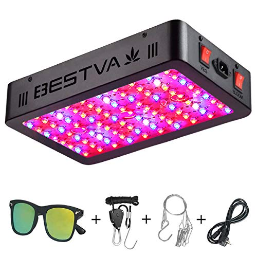 BESTVA 1000W LED Grow Light Full Spectrum Dual-Chip Growing Lamp for Hydroponic Indoor Plants Veg and - Series System Lights