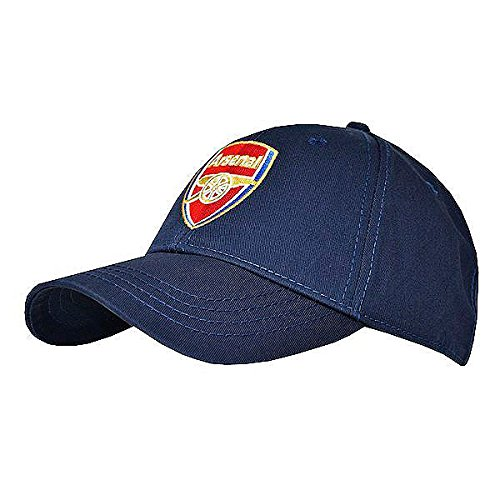 (Arsenal FC Navy Blue Baseball Cap with Team Crest in Full Color - Official Product)