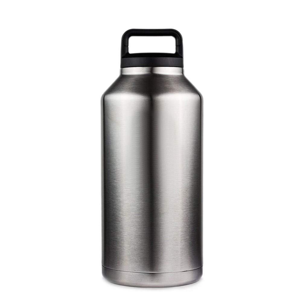 CoolLife 64Oz 304 Edelstahl Wasserflasche Doppelwandigen Vakuum Bier Wasserkocher Flaschen Mit Griff Outdoor Camping Sport Flasche